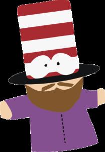 Мистер шляпа в векторе, eps, cdr, vector
