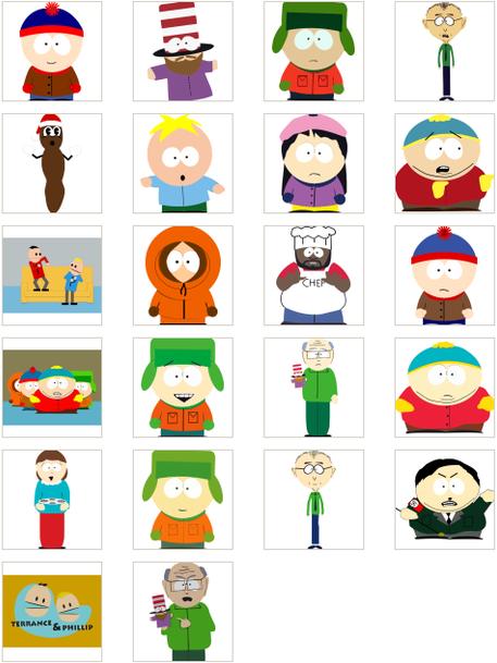 South Park в векторе, EPS, CDR, PNG