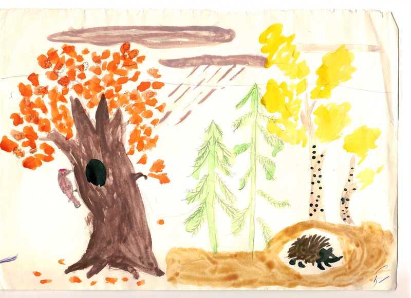 image1 resize - Мой детский рисунок с ёжиком