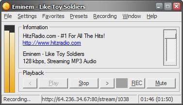 screen - Как записывать интернет-радио на компьютер в mp3