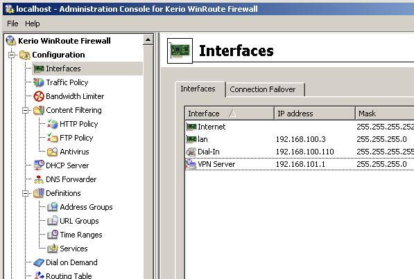 kerio vpn server 1 - Настройка Kerio VPN Server для подключения отдельных VPN клиентов