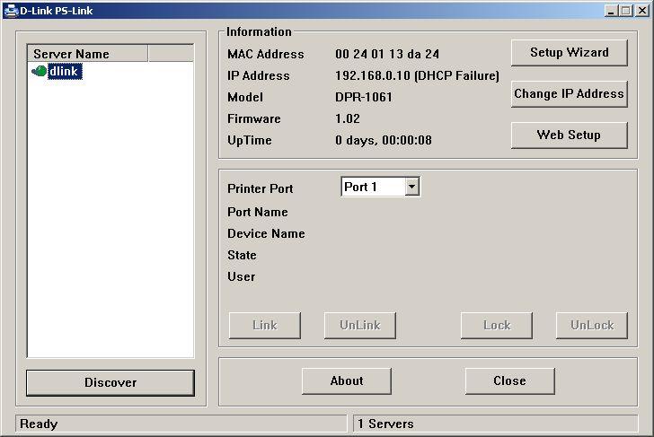 dpr 1061 1 - Настройка принт сервера D-Link DPR-1061