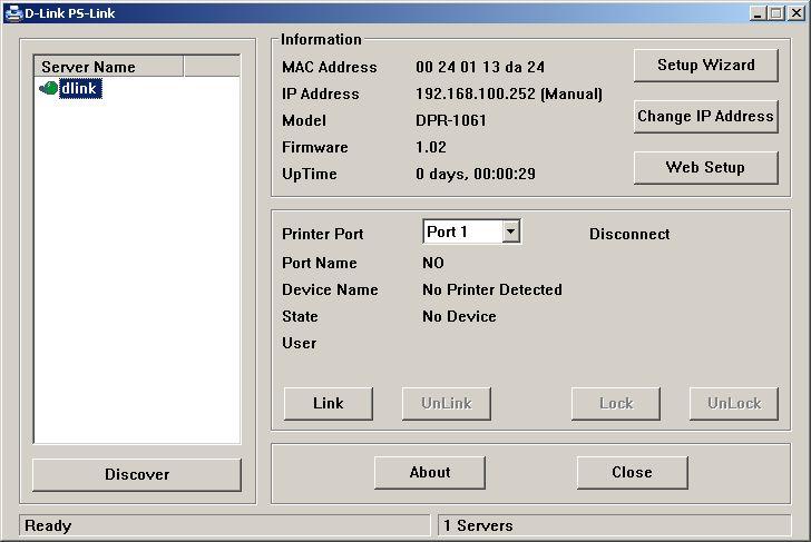dpr 1061 4 - Настройка принт сервера D-Link DPR-1061