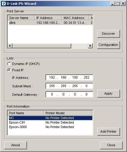 dpr 1061 8 - Настройка принт сервера D-Link DPR-1061