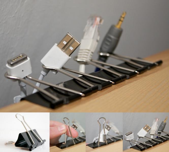 full - Удобная держалка для проводов на столе