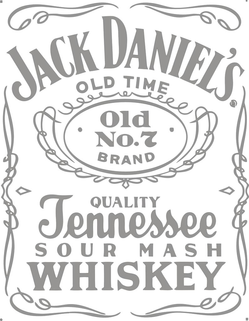 Jack Daniels 795x1024 - Лейбл Jack Daniels в векторе