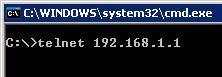 telnet dsl dlink 1 - Как подключиться TELNET к модему D-Link DSL-2500U