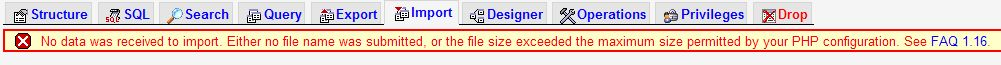 sql file size 3 - phpMyAdmin — file size exceeded the maximum size permitted by ouyr PHP