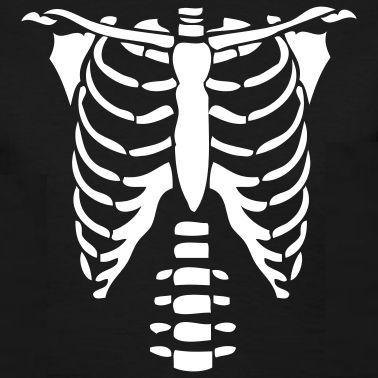 black skeleton torso - Векторный скелет на майку