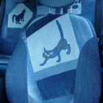 cat car jeans 3 150x150 - Чехлы для автомобиля из старых джинсов