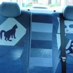cat car jeans 6 150x150 - Чехлы для автомобиля из старых джинсов