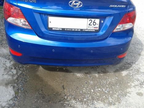 20140607 164816 468x351 - Установка парктроников на Hyundai Solaris