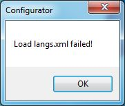 langs - Ошибка / Load langs.xml failed!
