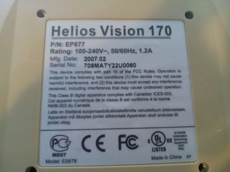 helios vision 170 2 468x351 - Монитор Helios Vision 170 не включается, индикатор не горит