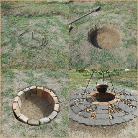 hf7Yzo8NVwA 468x468 - Шикарный очаг во дворе из подручных материалов